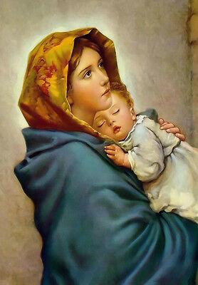 Virgin Mary Picture POSTER A3 Virgin Mary print Our Lady Madonna painting art