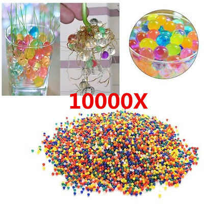 10000PCS Water Ball Crystal Pearls Jelly Gel Beads for Orbeez Toy Refill Decor N