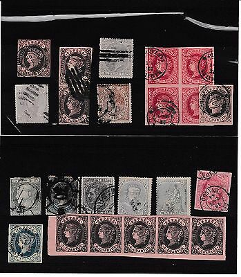 EARLY SPAIN.MAINLY ISABELLA.BLOCK,PAIR,STRIPx5.HIGH CAT.NICE!!!CHEAP!!!