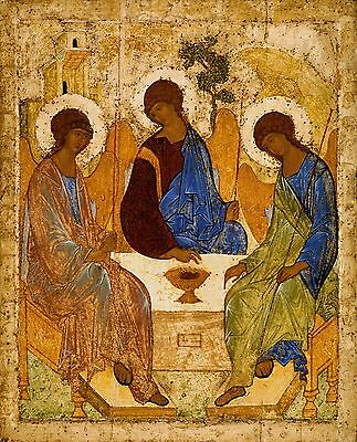 Holy Trinity icon POSTER A3 Byzantine Russian orthodox Religious Andrei Rublev