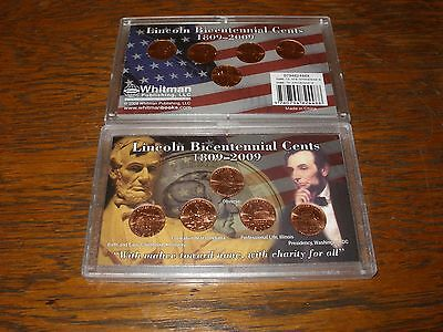 10 Uncirculated 2009 P/d Lincoln Bicentennial Cents In 2 Plastic Cases