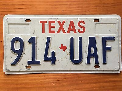 Texas licence plate