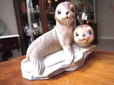 """Seal Figurine by Masterpiece Porcelain, measures 4.75"""" x 6"""" long"""