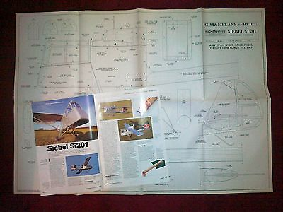 SIEBEL Si201 SCALE STOL OBSERVATION AIRCRAFT FROM WW2 MODEL PLAN