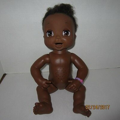 """African American Baby Alive 16"""" Doll 2006 Soft Face Talking Hasbro Works"""