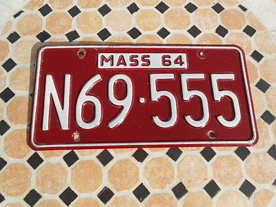 1964 Massachusetts License Plate In Excellent Condition