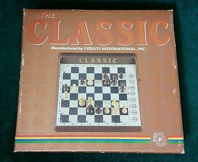 Fidelity chess challenger The Classic CC8 Excellent Condition Orig. Box Complete