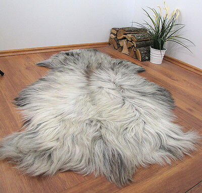 "GENUINE 100% NATURAL XXL SHEEPSKIN RUG 51x31"" FUR PET BED #22717"