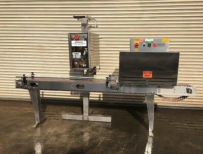 Axon EZ-100 Shrink Sleeve Labeler with Axon SS Heat Tunnel, Labeling Machine