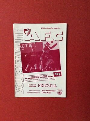 94/95 AFC Bournemouth v Oxford U(Auto W shield)