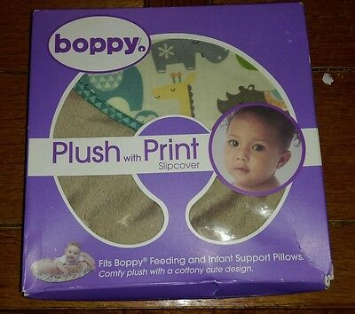 Boppy Pillow Slipcover and Plush, Print Mod Jungle/Tan