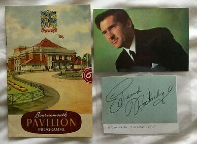 1950s EDMOND HOCKRIDGE at the Pavilion Bournmouth + Genuine Autograph. COA.