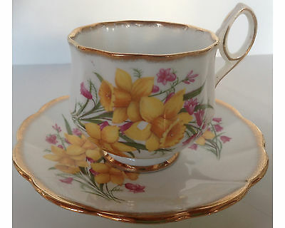 Pretty Rosina Spring Daffodil Cup and Saucer
