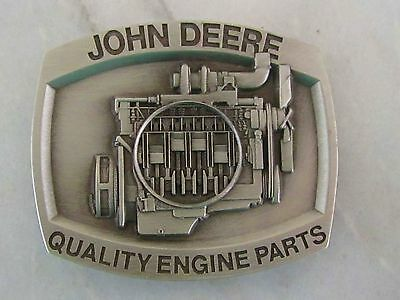John Deere Belt Buckle, Quality Engine Parts, Limited Edition Serial #1064, 1988