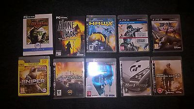 joblot pc games and ps3 games
