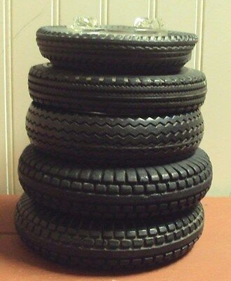 Vintage Assorted Tire Ashtrays With Glass Inserts, Autobanden, 2 Firestone...
