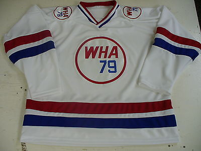 Vintage WHA All Star hockey replica jersey 1978-79 blank home white
