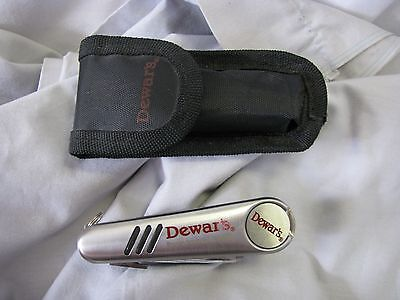Dewar's Golf Utility Tool with magnetic ball marker, with case