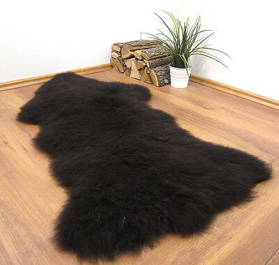 "GENUINE 100% NATURAL XXL SHEEPSKIN RUG 49x28"" FUR PET BED #22689"