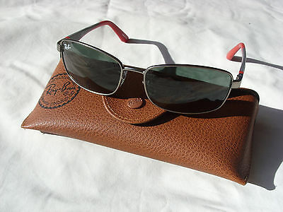 New Ray Ban Jr Kids Sunglasses Rj 9533S 242/71 Rectangle Red Gray Metal W/case