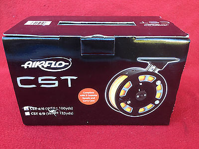 Airflo Cst 4/6 Fly Fishing Reel, Line + 5 Spare Spools And Case, Boxed New