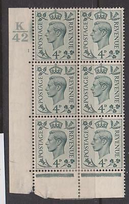 GREAT BRITAIN 1937 4d CONTROL VALUES MNH
