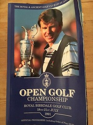 Open Golf Championship Programme 1991 Royal Birkdale Golf Club -