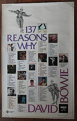 DAVID BOWIE ORG 1980 RCA 137 Reasons Why Promo Poster
