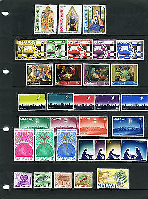 MALAWI, nice collection QEII of sets/issues, mainly pre-decimal