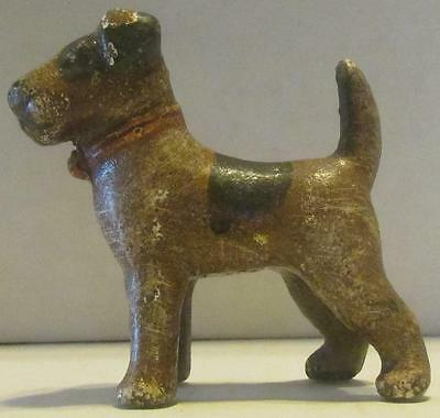 Vintage Hubley Terrier Cast Iron Paperweight