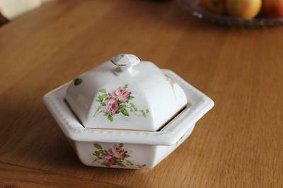 Antique Booths Florally Decorated Soap Dish With Drainer