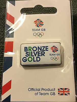 New Official Team Gb Rio 2016 Olympic Pin Badge - Bronze, Silver, Gold Very Rare