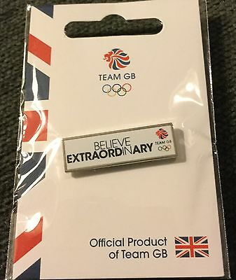 Official Team Gb Rio 2016 Olympic Pin - Believe Extraordinary - Only 500 Issued!
