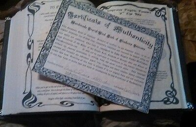 Custom 360 page Spell Book of Shadows Handmade Witchcraft Pagan Grimoire
