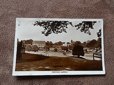 Real Photo postcard -Trentham Gardens- Stoke on Trent - Staffordshire