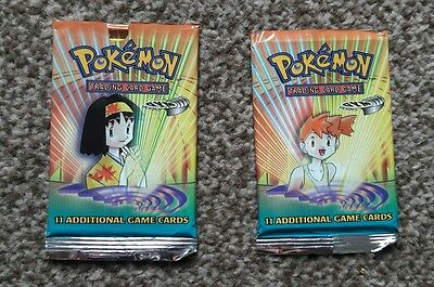 Pokemon Gym Heroes Booster Card Packs x2 (Opened)