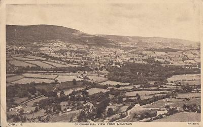 W45. Vintage Postcard.Crickhowell. View from the mountain.
