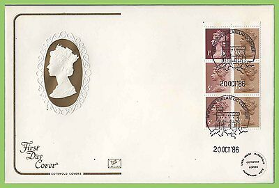 G.B. 1986 Pondlife booklet pane on Cotswold First Day Cover Windsor