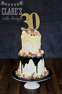 30th birthday large cake toppers, Gold, Silver party, any number