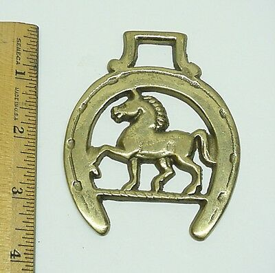 Brass Horse Medallion Horse Saddle Decor Ornaments Equestrian #2