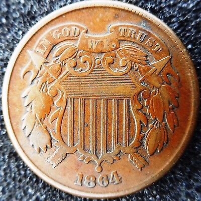 USA - 2 Cents 1864 (large motto?) ... (3488)