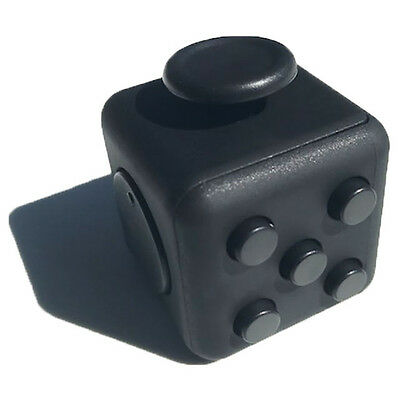 ZILA LARGE FIDGET CUBE Black Toy for Stress and Anxiety, EDC, OCD, ADHD, ADD,FUN