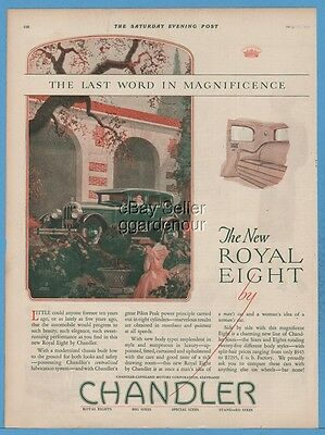 1927 Chandler Motor Car Cleveland OH New Royal Eight George Shepherd Art Ad