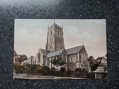 Early Frith postcard- Dunster church - Nr Minehead Somerset