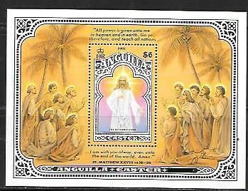 Anguilla 1991 Easter S/s Sc # 838 Mnh