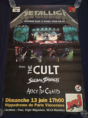 Metallica-The Cult-Alice In Chains-Suicidal Tendencies-Tour Poster-France-1993
