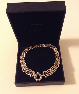 Ladies 9K yellow gold new stunning bracelet