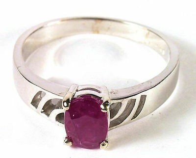 Dazzling New Ruby Ring in 14K White Gold