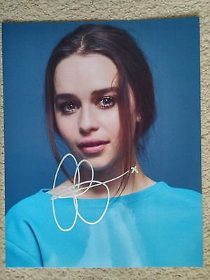 "Emilia Clarke Autograph Signed Photo 8x10 ""Game of Thrones"""