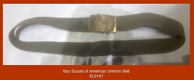 Boy Scouts of America early Uniform Belt + Metal Necker Slide
